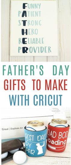 Father's Day is  less than a month away. Are you ready? If not, no worries. We've got you  covered with these fun Father's Day Gifts to Make with Cricut. #cricut  #diy #crafts #projects #diycrafts #diyprojects  #diyideas #diecutting #diecuttingmachine #cutfiles #svgfiles #diecutfiles  #diycricutprojects #cricutprojects #cricutideas #vinylprojects #vinyl