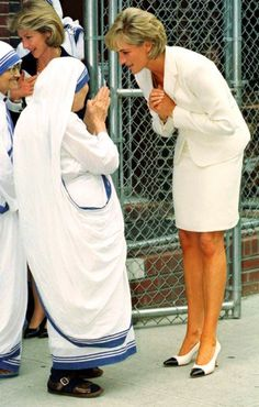 Mother Teresa with Lady Diana