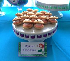 Oyster Cookies at an Ariel Mermaid Birthday Party!  See more party ideas at CatchMyParty.com!