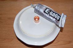 No drill teacup bird feeder