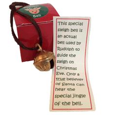 Rudolph Bell--personalized Christmas gifts are a great way to keep the magic of Santa Claus alive in your child. Children grow up so fast and our personalized gifts from Santa can help preserve a little bit of their childhood.