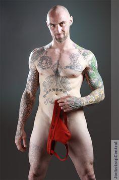 Jockstrap Central model Trevor in Nasty Pig Core Jock