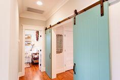turquoise barn doors | Gideon Mendelson