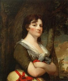 """Portrait of Elizabeth Parke Custis Law (step-grand-daughter of George Washington),"" by Gilbert Stuart 1796"