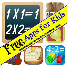 Free Apps for Kids: Coloring Book, Teddy Piano Tutor HD, Kids Math, Learn Greek, + More!
