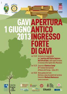 Locandina 1 Giugno 2013 - Apertura antico ingresso del Forte di Gavi