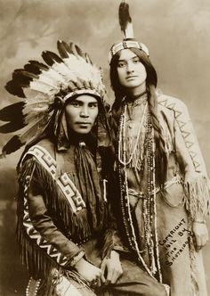 vintage american indian couple