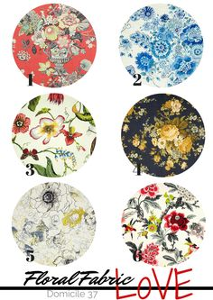 6 Chic Floral Fabric