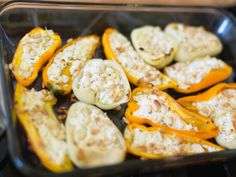 Goat Cheese Stuffed Peppers (and 23 Other Garden Recipes We Love!) --> http://www.hgtvgardens.com/recipes/summer-recipes?soc=pinterest