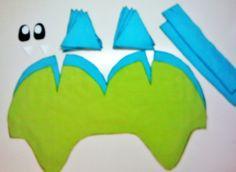Fleece+Dino+Hat+#howto+#tutorial