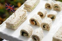 Finger sandwiches at a English High Tea Party #teaparty #sandwiches