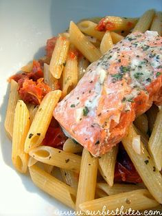 Quick and Easy Herb-Butter Penne with Salmon | Our Best Bites