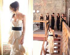 wedding charcoal, bridesmaids, wedding dressses, stair, colored wedding dresses, wedding stuff, the dress, dream wedding, black bridesmaid dresses