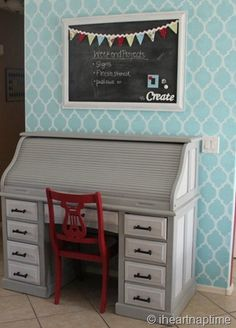 stencilled wall from @I Heart Naptime