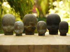 concrete heads for your garden or just anywhere you want a creepy baby head