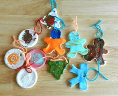Cornstarch and Baking Soda Christmas Ornaments.  Great alternative for kids that can't use flour.
