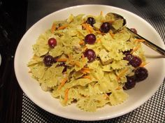 pesto chicken salad with red grapes