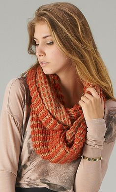 Very cool knitted infinity scarf