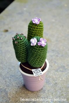 crochet amigurumi cactus