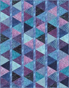 FREE PATTERN Timeless Treasures - Tonga Reef – Harlequin Quilt by Osie Lebowitz