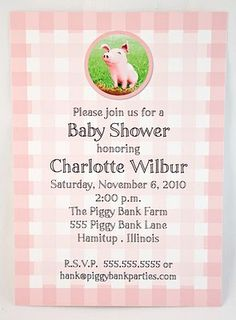 a charlotte's web inspired baby shower