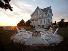 fire pits, beaches, sand, adirondack chairs, beach houses, dream hous, backyard, firepit, farm houses