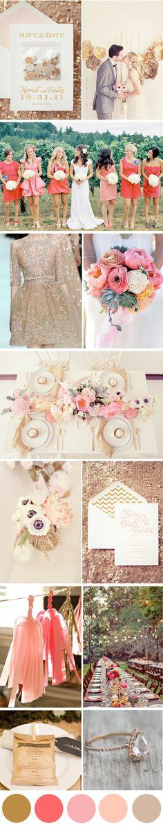 #wedding gold & pink So gorgeous.