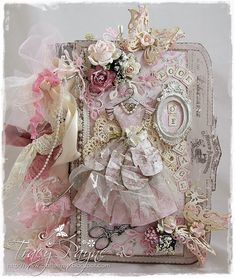 Live & Love Crafts' Inspiration and Challenge Blog: Pink and Cream Shabbylicious