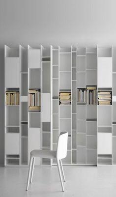 MDF bookcase RANDOM by MDF Italia | design Neuland Industriaedesign