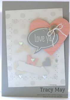 Stampin' Up! UK - Confetti/Shaker Card Heart punch, Just Sayin, On Film framelits, Bitty Butterfly, Scallop TIEF, Word Bubble framelits