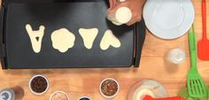 How-to make pancake shapes your kids will LOVE! SO CUTE!
