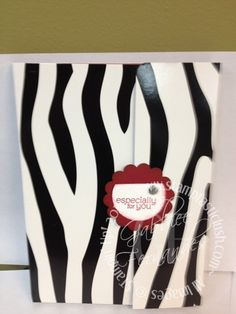 Stampin Up! File Folder Legal Pad Cover with Mini Calendar