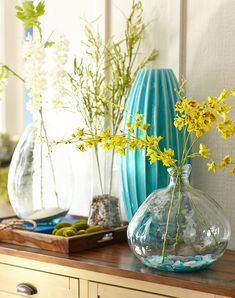 Handcrafted vases and a nod to Mother Nature
