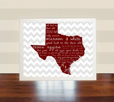 Texas A&M Aggies Wall Art Print Printable Poster by therubyheart, $6.00
