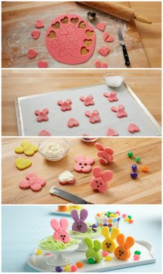 Super easy how-to for making adorable bunny sandwich cookies!