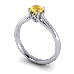 round citrin, brilliant cut, centr stone, claw set, solitair engag, cut round, engag ring, carri engag, engagement rings