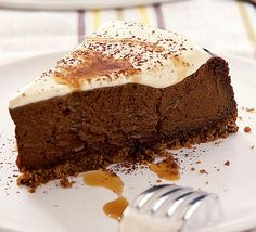 Kahlúa chocolate cheesecake -- Decadent, tempting chocolate cheesecake with the taste of coffee liqueur.
