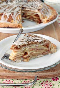 Upside-Down Streusel Apple Pie