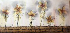 Cuadro-óleo  flores moderno