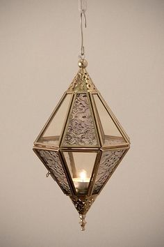 Faceted Glass Lantern #urbanoutfitters
