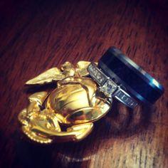 Usmc marine corps wedding rings