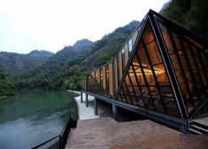 Tianmen Mountain Restaurant by Liu Chongxiao: http://www.archello.com/en/collection/geometric