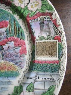 Decorative Dishes - Transferware Green Pink Blue Alabama Gardens Vintage Souvenir Plate England, $34.99 (http://www.decorativedishes.net/transferware-green-pink-blue-alabama-gardens-vintage-souvenir-plate-england/) garden vintag, alabama garden, souvenir plate, vintag souvenir, pink blue