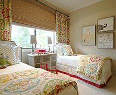 Grandma's ready for visitors.  So pretty and kid ready! Holly Mathis Interiors: New Children's Room