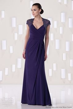 kathy ireland for mon cheri fall 2012 special occasion amethyst blue evening gown