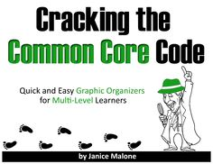 Train students of all ability levels to read with a laser-sharp focus and to write with confidence while using easy and effective Common Core aligned graphic organizers. (priced item)