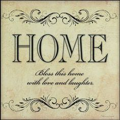 Bless This Home ~ nice sentiment for a new home card