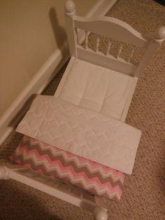 18 inch Doll Bedding  Tufted Mattress Pad by HoleInMyBucket, $12.00