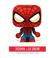 Free Spiderman 3d paper model printable - Spiderman