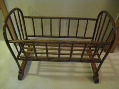Victorian Bent Wood Jenny Lind Crib